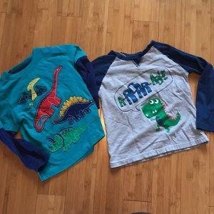3 Dinosaur Long T-Shirt Bundle - 4T